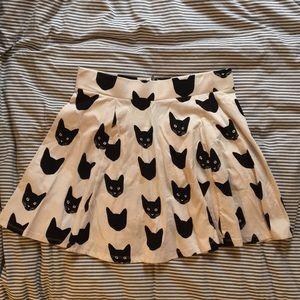 Black Cat Print skirt